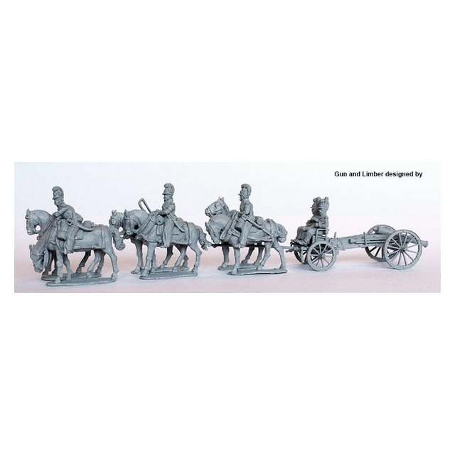 Six horse limber with 12 pounder