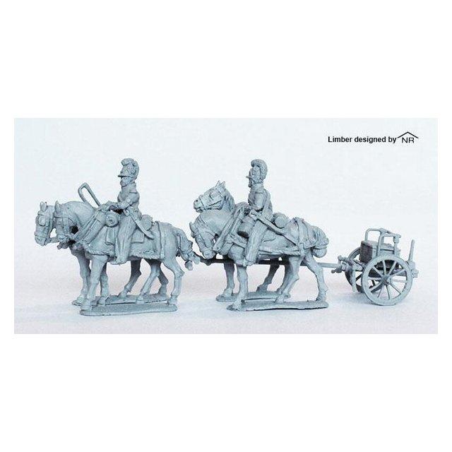 Four horse Limber, no gun or seated crew