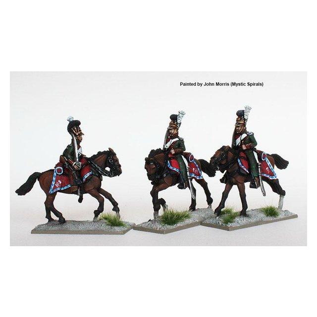 Chevauxlegers, galloping , shouldered swords