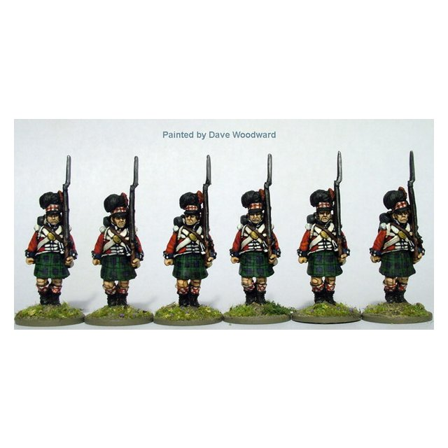 Highland Infantry, centre companies advancing, shouldered arms