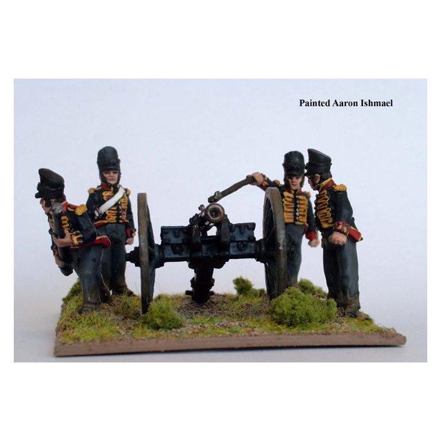 Hanoverian Foot Artillery firing 6 pdr