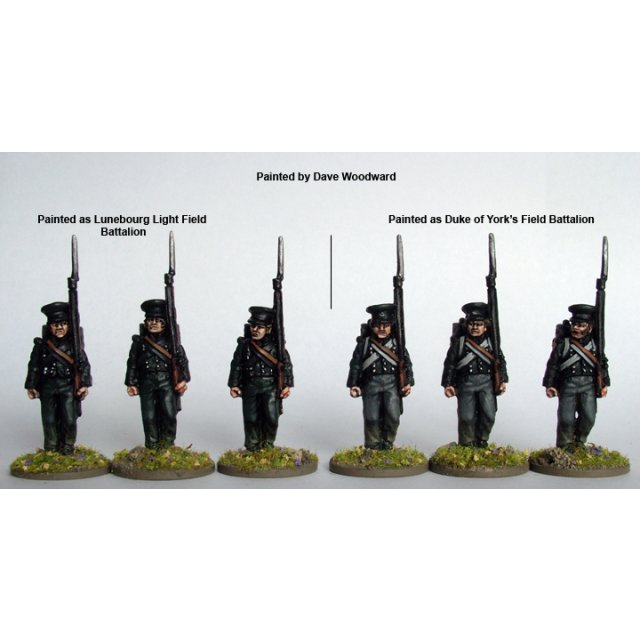 Hanoverian Light Field Battalion advancing, peaked caps