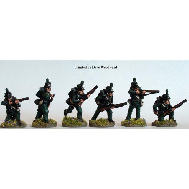 British 95th Riflemen skirmishing