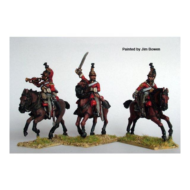 British Heavy Dragoon / Dragoon Guard command galloping