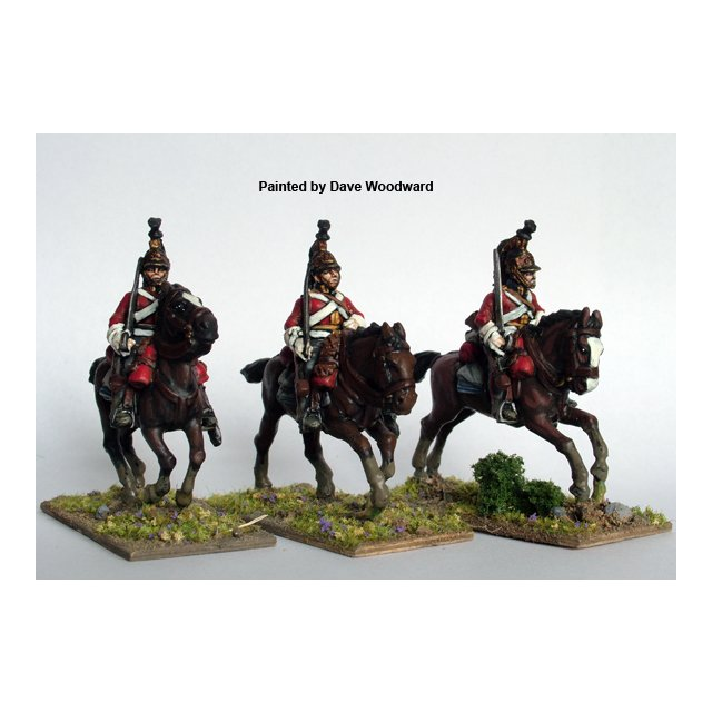 British Heavy Dragoons / Dragoon Guards galloping, swords should