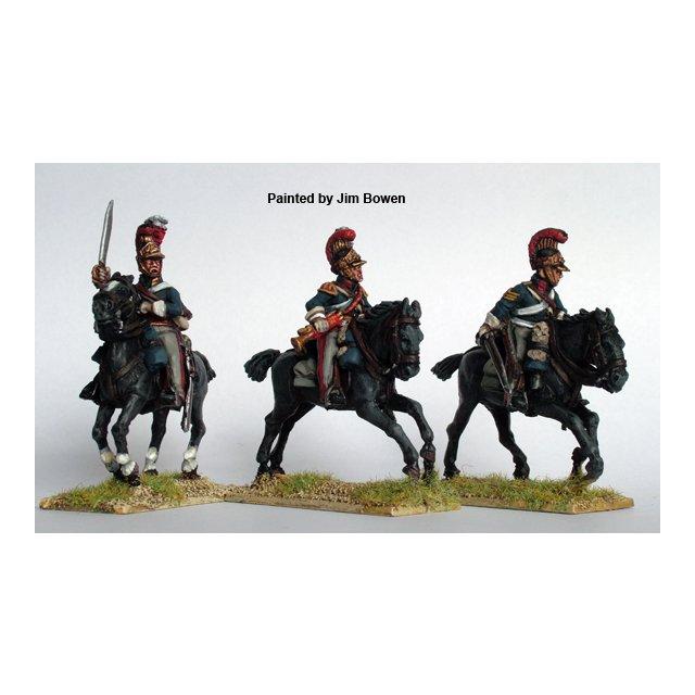 British Household Cavalry command galloping