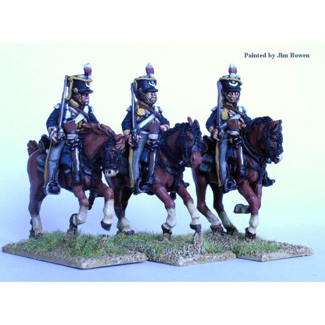 British Light Dragoons, galloping , swords shouldered