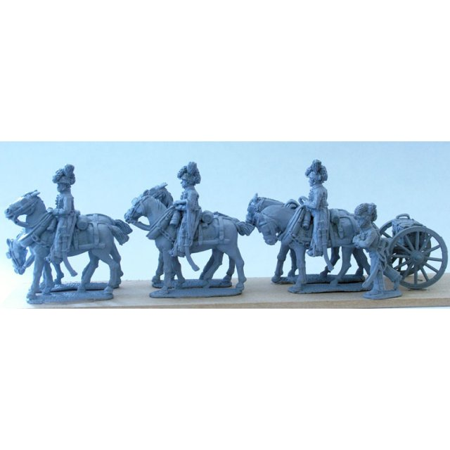Royal Horse Artillery 6 horse limber team standing without gun