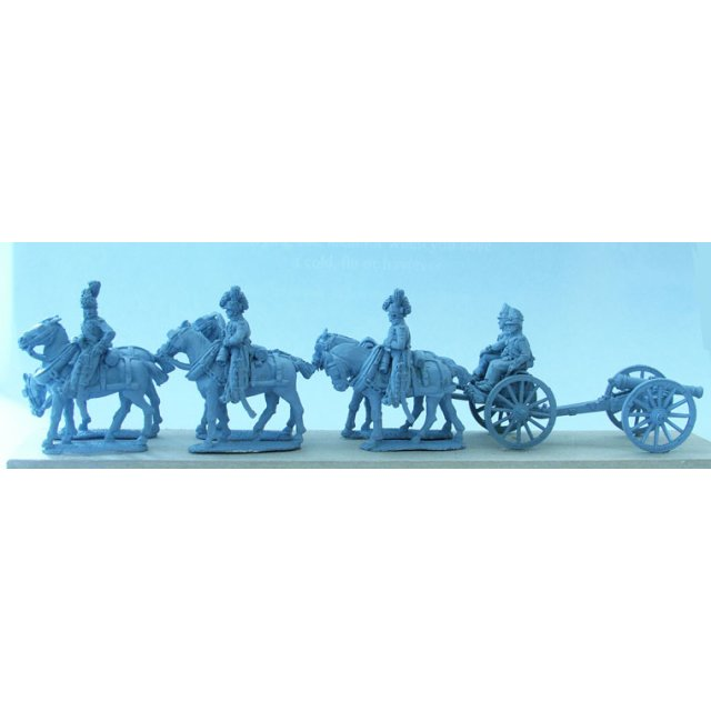 Royal Foot Artillery 6 horse limber team standing with 9pdr