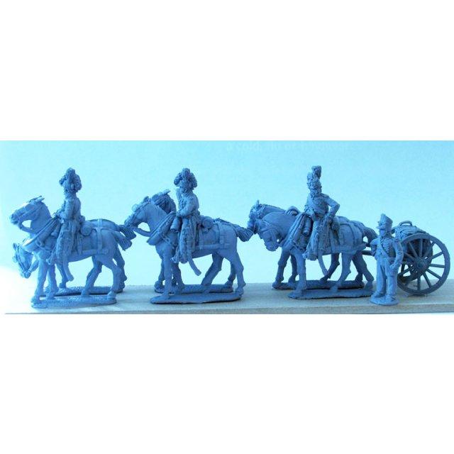 Royal Foot Artillery 6 horse limber team standing without gun