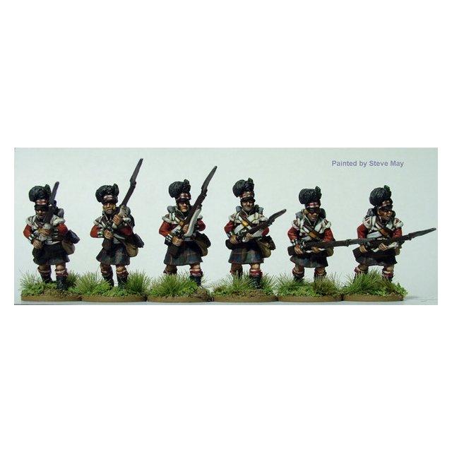 Highlanders charging, flank companies