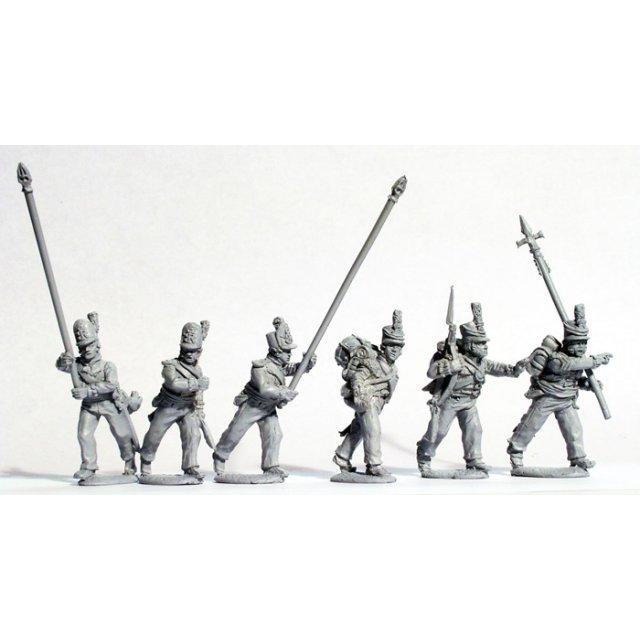 Hanoverian militia command marching casually