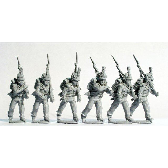 Hanoverian militia marching casually