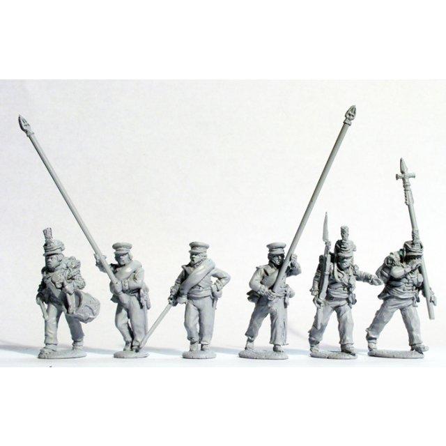 Hanoverian militia (Osterode battalion) command advancing