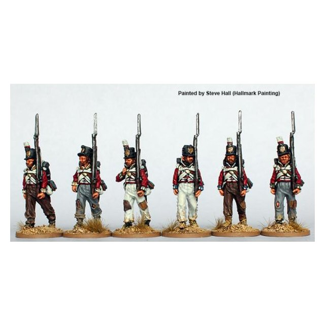 Ragged  Infantry, centre companies, marching 1808-14