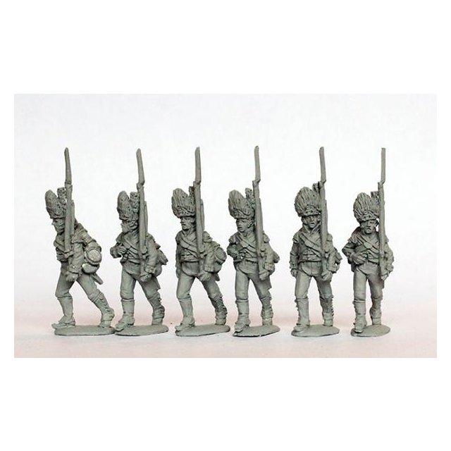 Grenadiers in fur caps marching 1801-07