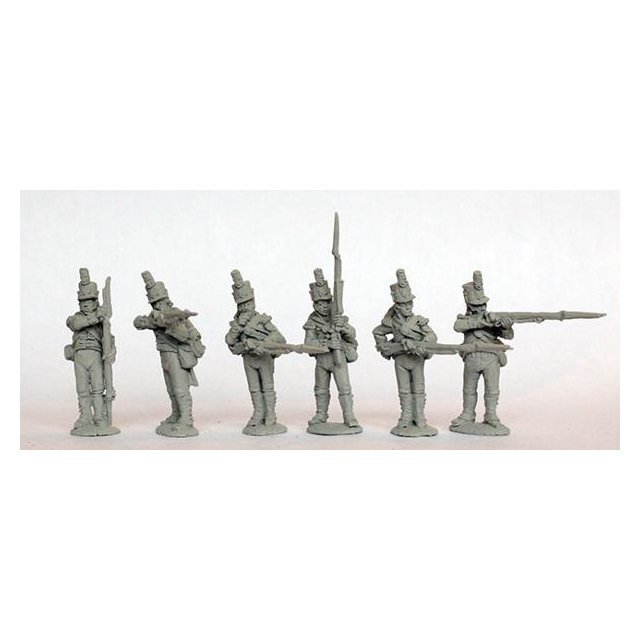 Flank companies firing line shakos, 1801-07 (Worldwide)
