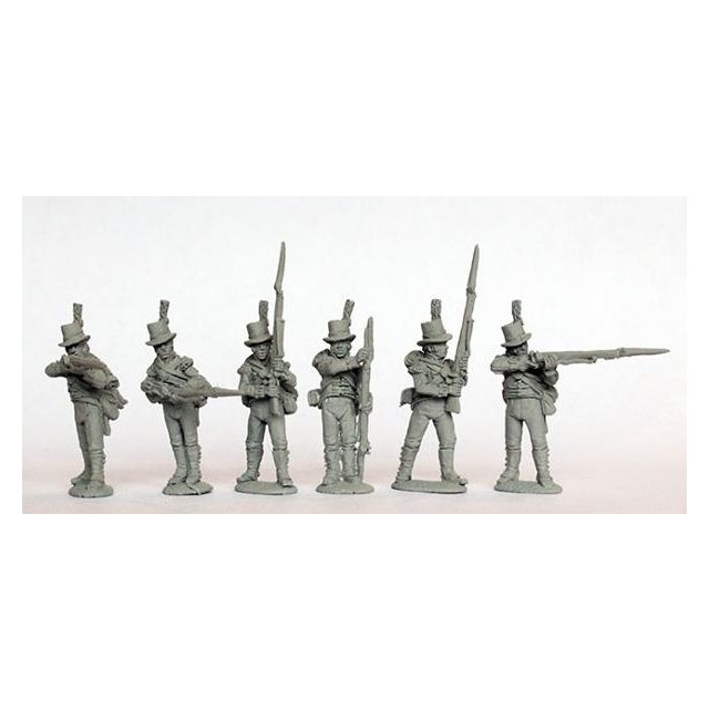 Flank companies firing line round hats, 1801-07 (India, Egypt, W