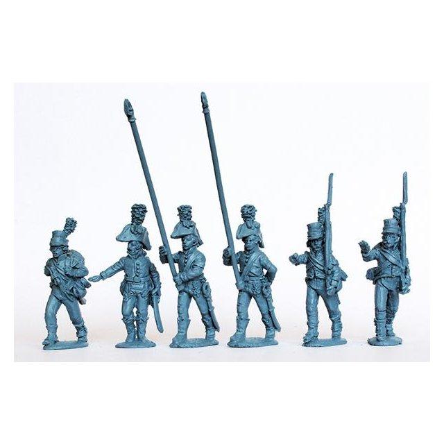 The Watteville regiment  (Swiss) Command marching, Egypt 1801