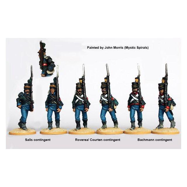 The Watteville regiment (Swiss) marching, Egypt 1801