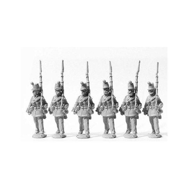 Line Infantry marching, 1855 pattern shako