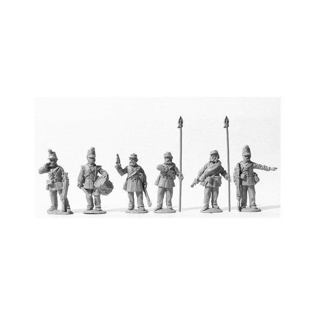 Canadian Militia command 1863 tunic and 1855 shako.