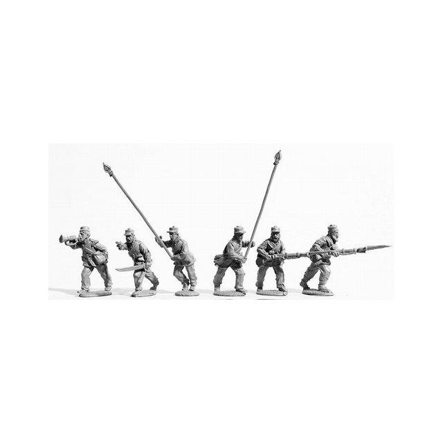 Line Infantry command charging, Kilmarnocks