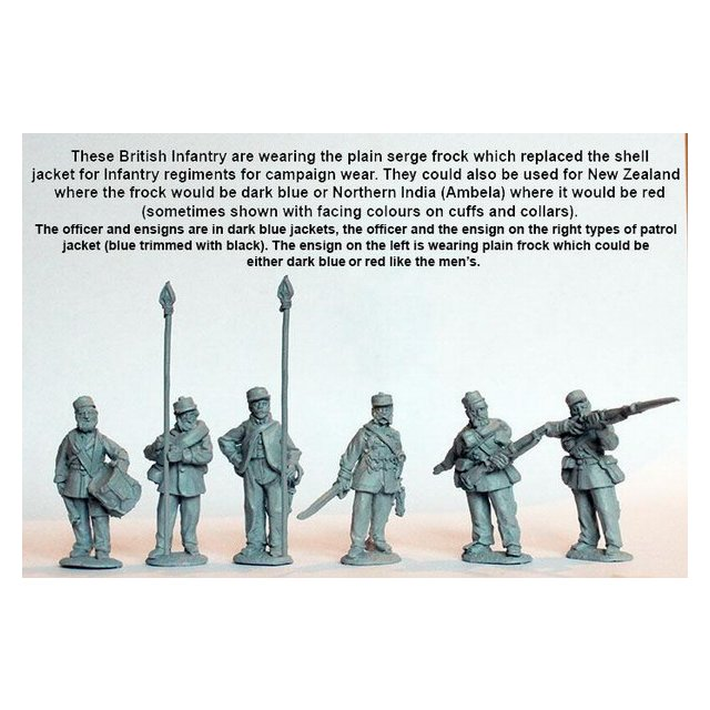 Line Infantry command standing, campaign dress, Kilmarnocks and