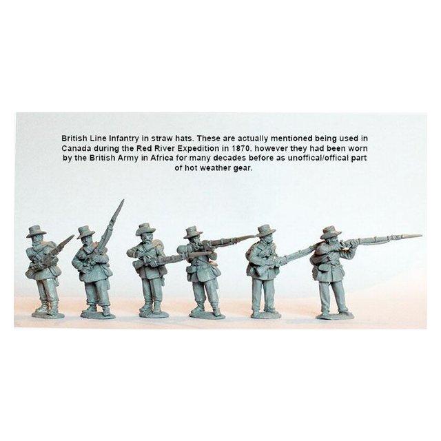Line Infantry firing line/skirmishing, campaign dress, straw hat