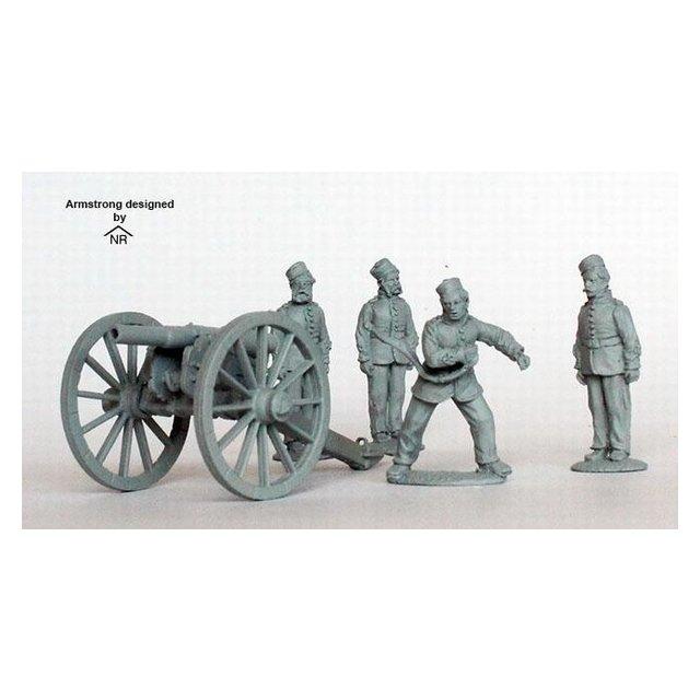 Royal Artillery firing 12 pounder Armstrong