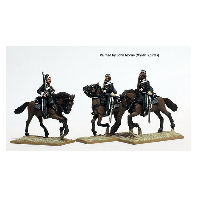 Canadian Volunteer Cavalry, galloping, shouldered swords, stable