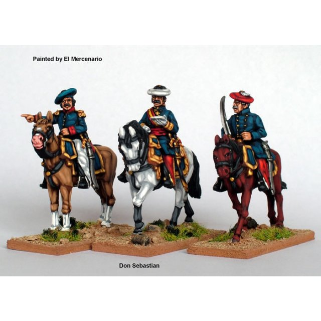 Don Sebastian and 2 mounted colonels