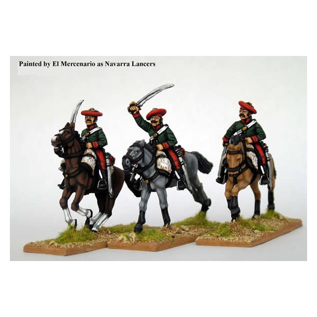 Lancers in shell jackets, charging with sword, carbine