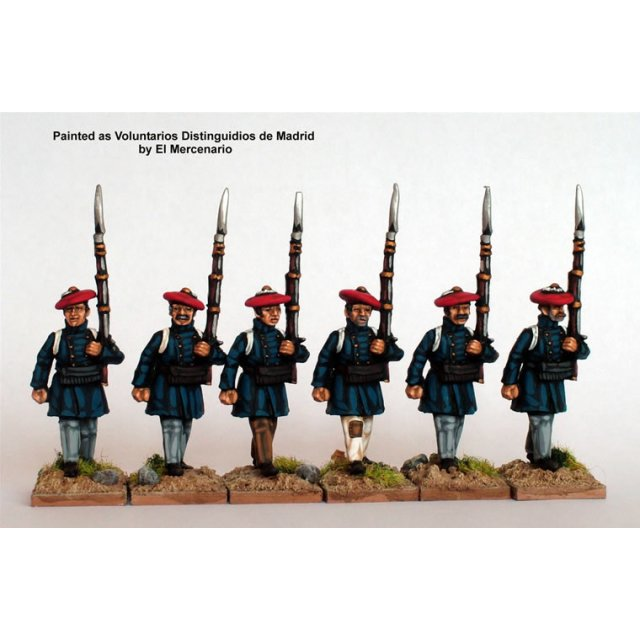 Infantry in frock coats marching