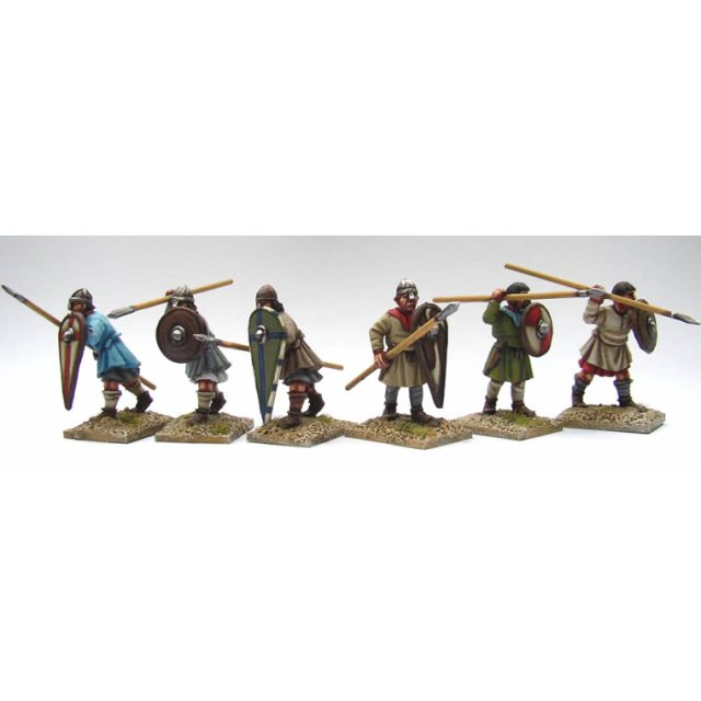 Unarmoured Spearmen advancing/attacking