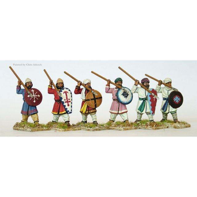 Armenian Unarmoured Militia spearmen defending