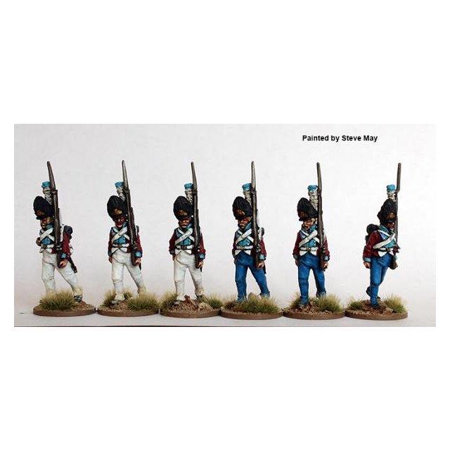 Grenadiers in bearskins, marching 1803-08