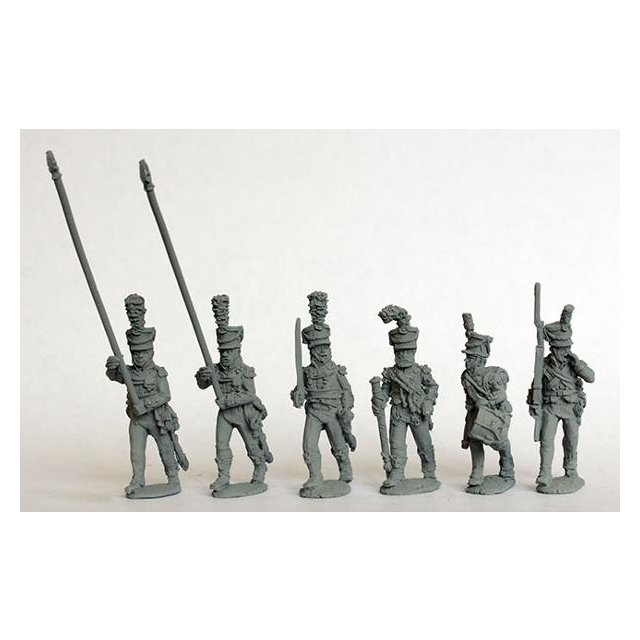 Infantry command, shakos ( with two standard bearers) 1808-13