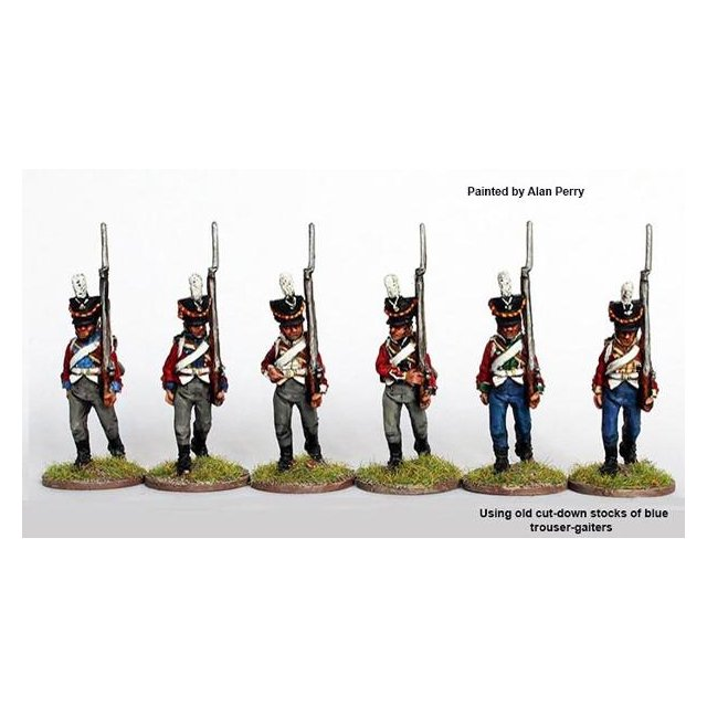 Musketeers marching, shakos 1808-13