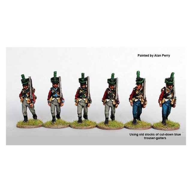 Regimental light company marching, shakos 1808-13