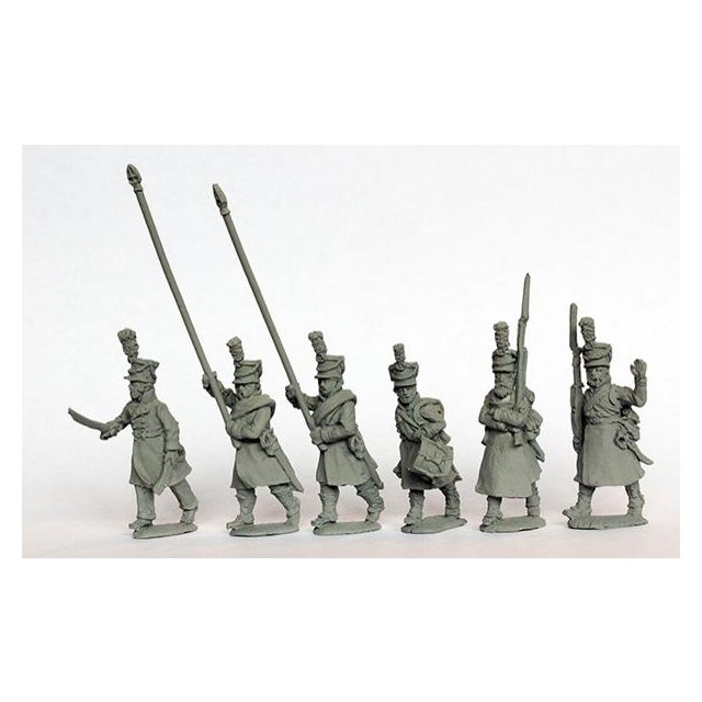 Infantry command marching, greatcoats 1812-14