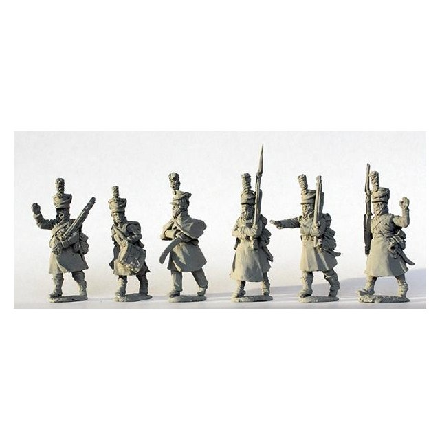 Infantry command marching, great coats (no standards) 1812-14