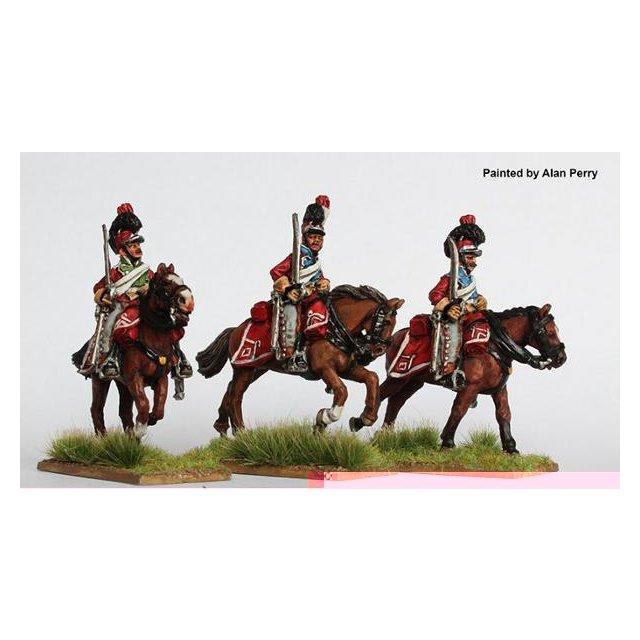Light Dragoons galloping shouldered swords 1812-14