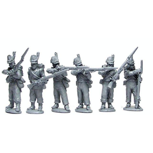 Belgian Line Infantry firing line, flank companies