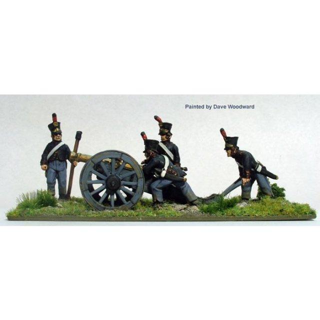 Dutch/Belgian Foot Artillery laying 6 pounder (includes gun)