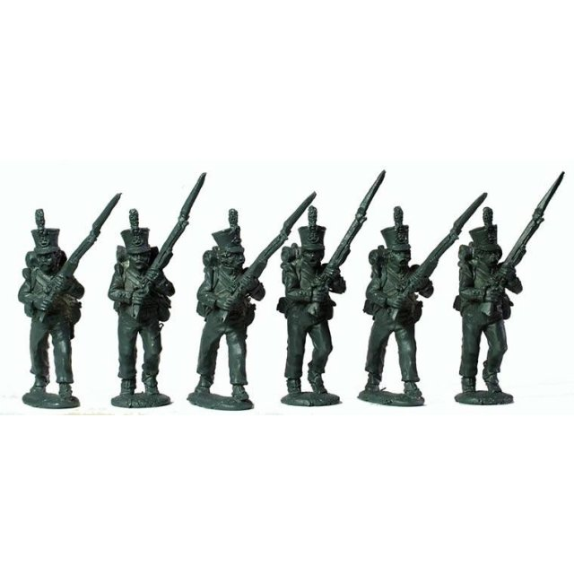 Dutch/Belgian Jagers/Chasseurs flank companies advancing high-po