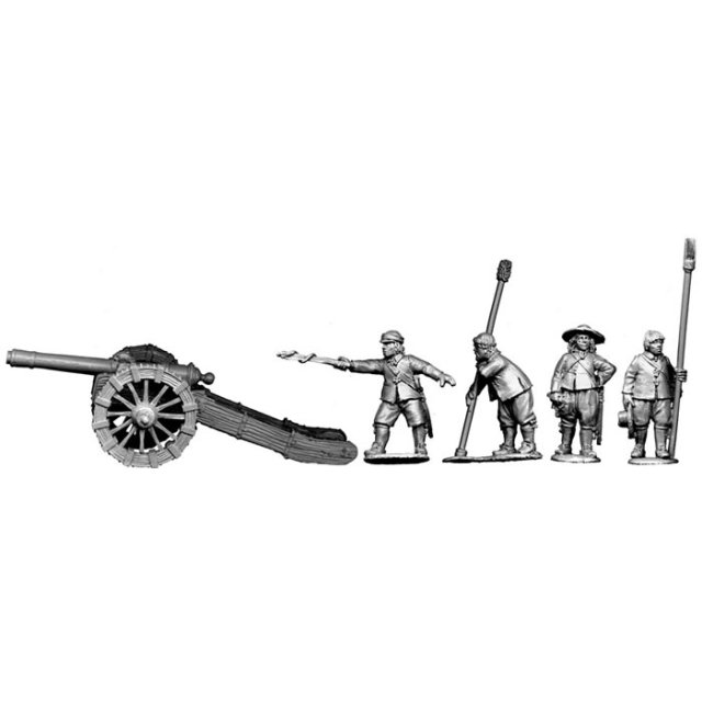 Culverin ( 12 pounder gun ) plus crew firing
