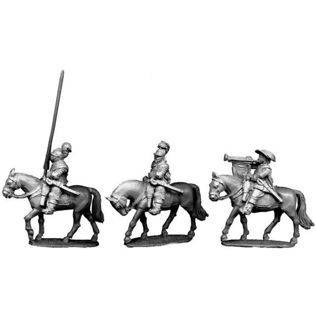 Cuirassier Command ( Officer, Cornet, Trumpeter )