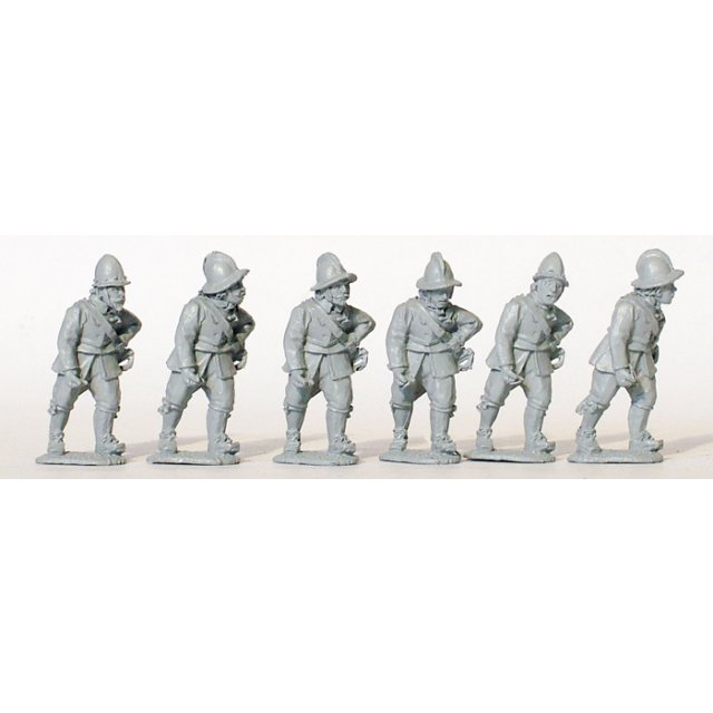 Armoured pikemen (breast & back only) marching
