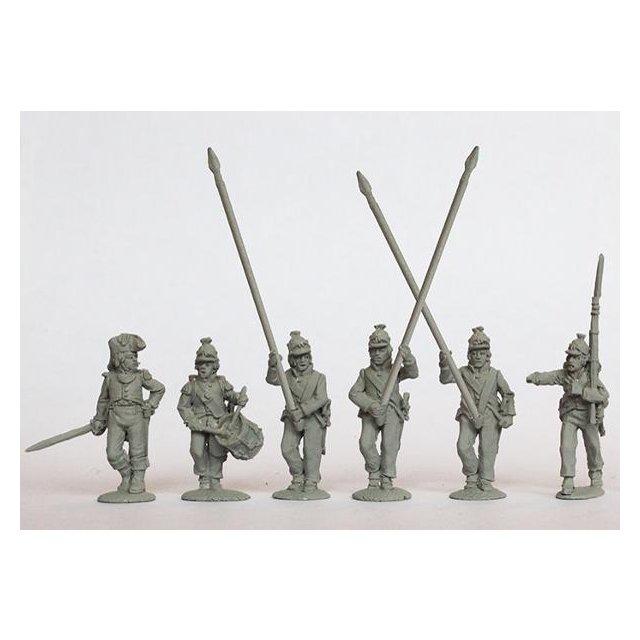 Line Demi-Brigade command advancing (Kleber ordnance), three sta